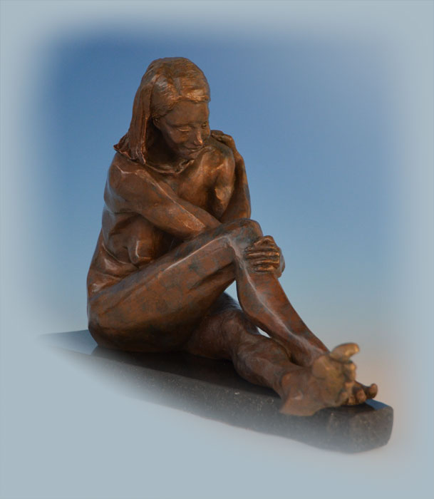 7 Year Itch bronze sculpture by David Varnau