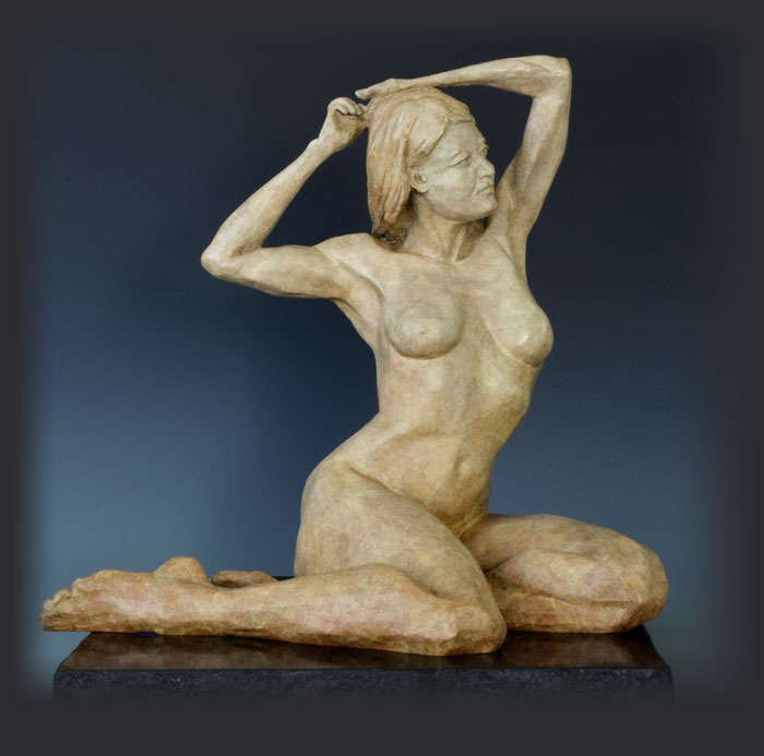 Daybreak bronze sculpture by David Varnau
