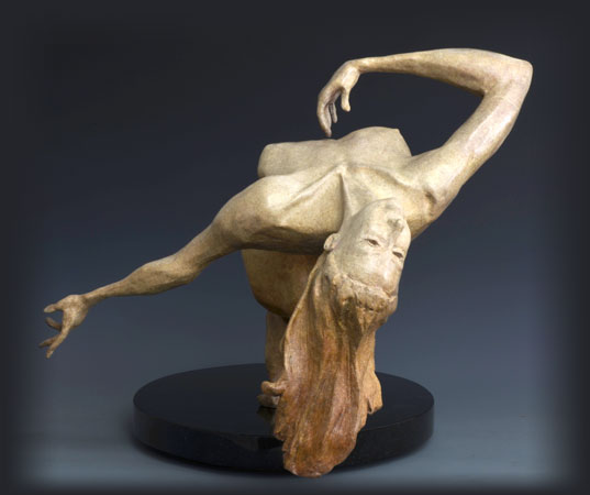 Ecstasy bronze sculpture by David Varnau