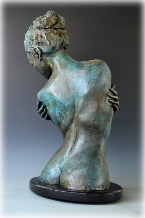 Embrace bronze sculpture by David Varnau