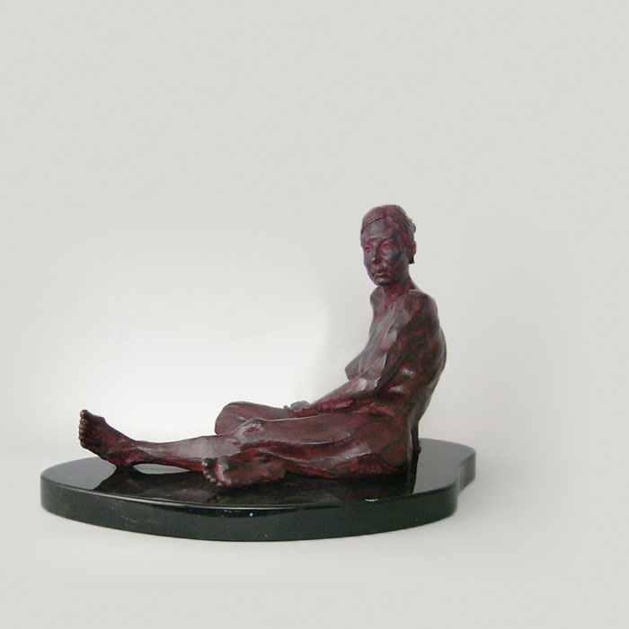 Eve bronze sculpture by David Varnau