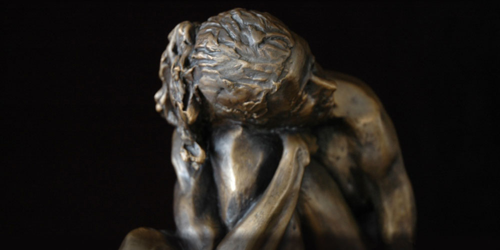 Serenity bronze sculpture by David Varnau