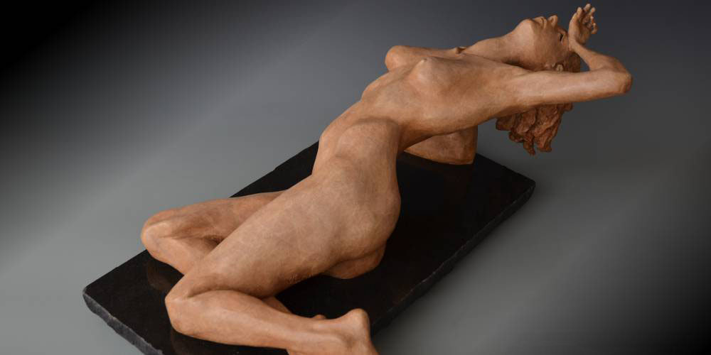 Rapture bronze sculpture by David Varnau