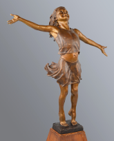 Joie de Vivre bronze sculpture by David Varnau
