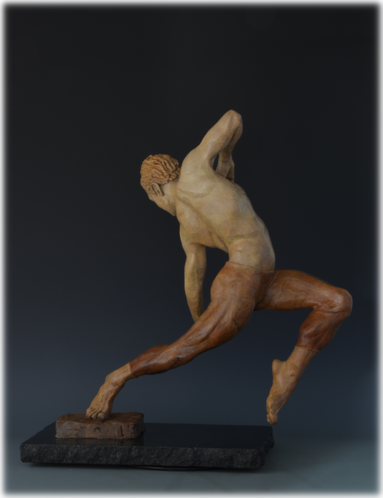Letting Go! bronze sculpture by David Varnau