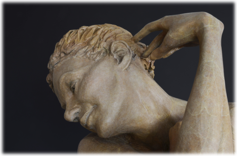 Moment of Reverie bronze sculpture by David Varnau