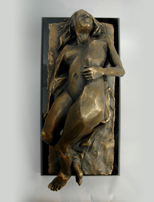 Odalisque II bronze sculpture by David Varnau