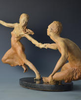 Persuasion bronze sculpture by David Varnau