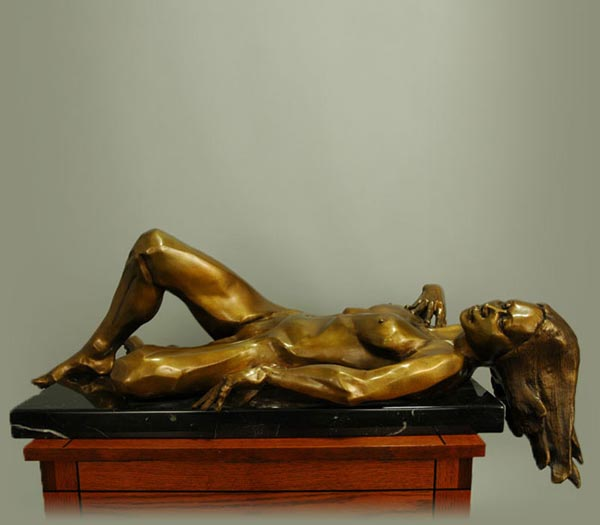 Repose bronze sculpture by David Varnau
