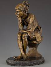 Reverie II bronze sculpture by David Varnau