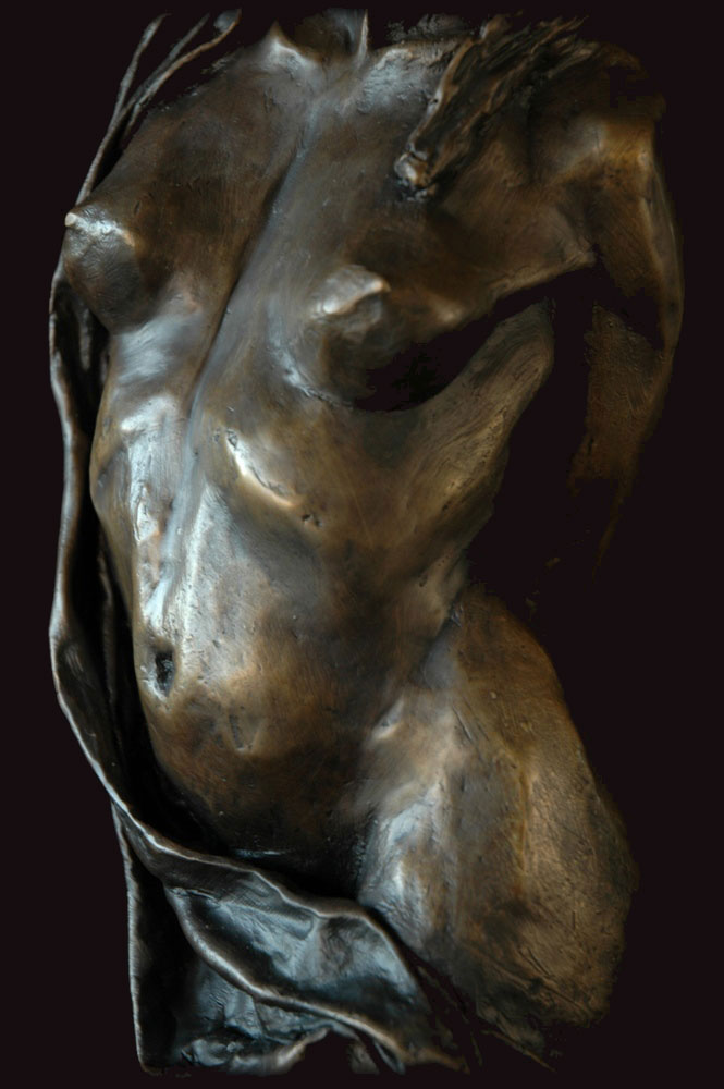 Swirl bronze sculpture by David Varnau