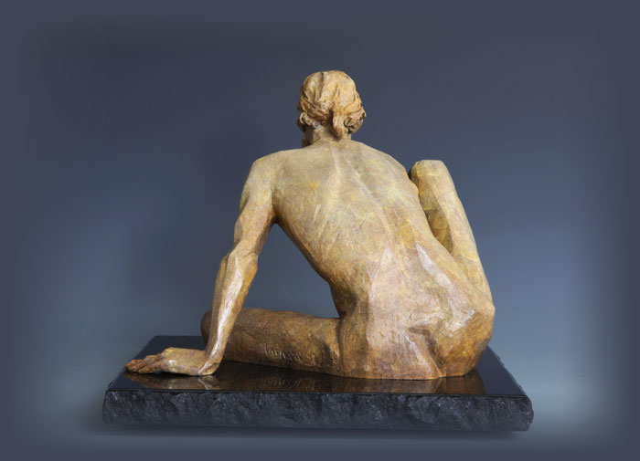 The Awakening bronze sculpture by David Varnau
