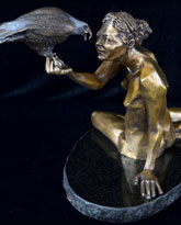 Transformation bronze sculpture by David Varnau